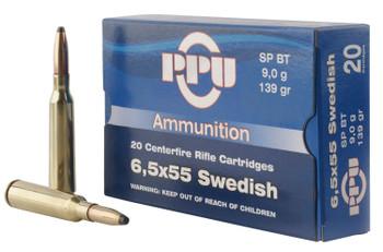 PPU 6.5X55 Swedish SP 139Gr 20/200 PP6SWS
