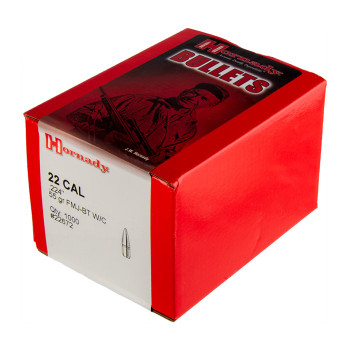 Hornady Bullet 22 CAL .224 55 GR Fmj-Bt W/C 1000/B