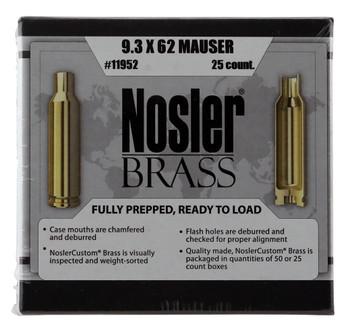 Nosler 11952    Rifle 9.3X62 Mauser Brass 25 PER B