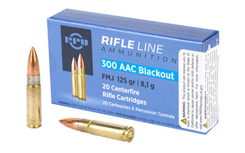 PPU 300Blk FMJ 125Gr 20/1000 PP300BF