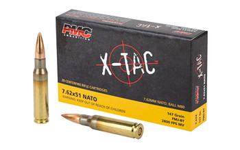PMC Xtac 762Nato 147 Grain Weight FMJ Ballistic TI