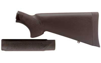 Hogue 05012 Overmolded Combo KIT Black Synthetic With Forend FOR Mossberg 500