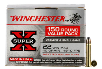Winchester 22Mag 40Gr JHP 150Rd Value Pack 150/10