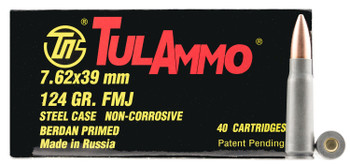 Tulammo Ul076211 Rifle  7.62X39mm 124 GR Hollow PO
