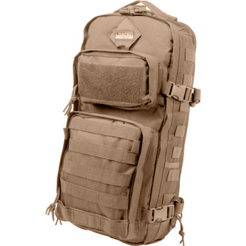 BARSKA OPTICS GX-300 Tactical Sling Backpack, Tan
