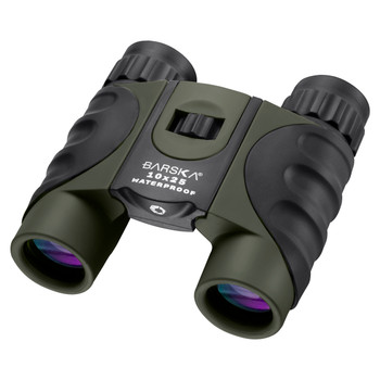 BARSKA OPTICS 10x25 Green WP, Blue Lens CP