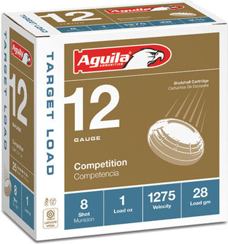 Aguila Shotshell 12Ga. 1Oz. #8 25-Pack 1275Fps