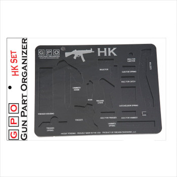 HK Gun Part Organizer Black