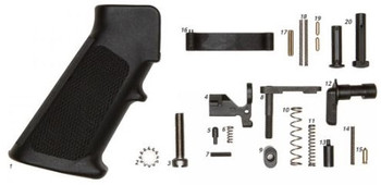 ALG Defense AR15 Mil-Spec Lower Parts Kit - Grip Included