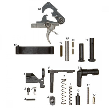 ALG Defense AR15 Mil-Spec Lower Parts Kit - No Grip