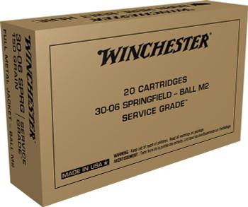 Winchester Ammo Service Grade .30-06 150Gr. FMJ M1