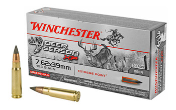 Winchester Ammo X76239DS Deer Season XP Extreme Point  7.62X39mm 123 GR Extreme Point 20 Bx/ 10 Cs