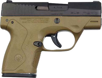 "BERETTA BERETTA NANO 9MM 3"" FS BLACK MATTE/FLAT DARK EARTH"