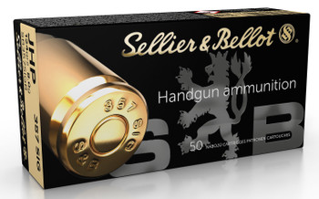 Sellier & Bellot SB357SIGB Handgun   357 Sig 124 GR Jacketed Hollow Point 50 Bx/ 20 Cs