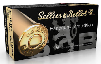 Sellier & Bellot SB44C Handgun   44 Remington Magnum 240 GR Semi Jacketed Hollow Point 50 Bx/ 12 Cs