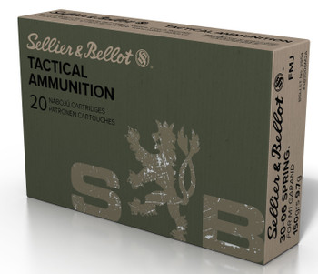 Sellier & Bellot SB3006M2 Rifle Training   30-06 Springfield 150 GR Full Metal Jacket 20 Bx/ 20 Cs