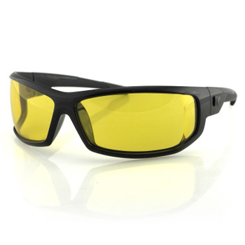 Bobster AXL Sunglasses-Black Frame-Anti-fog Yellow Lens