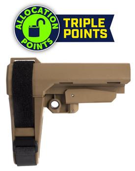 SB Tactical Sba3 Pistol Stabilizing Brace - FDE