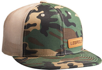 "Leupold HAT ""Leather Patch"" Camo/Khaki OS 172599"