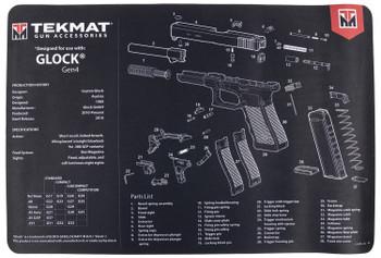 Tekmat Pistol MAT FOR GLK GEN 4 BLK R17-GLOCK-G4