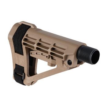 SBA4 5-Position Adjustable Brace w/ 6-Pos Carbine Ext FDE