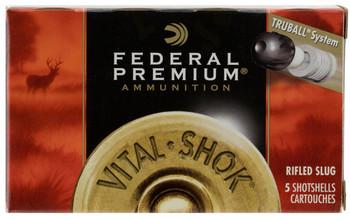 "Federal PRM 12Ga 2.75"" Rifled Slug 5/Box"