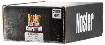 Nosler 53744 Custom Competition   6.5mm .264 100 GR Hollow Point Boat Tail 500 Box