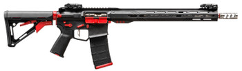 "Rise Armament RA3151BR2231 RA-315 C-Series  Semi-Automatic 223 Wylde 16"" 30+1 Fixed Black Synthetic Stk Black/Red"