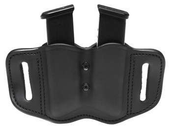 1791 GUNLEATHER MAGF22SBLA MAGF   Double Mag for Polymer Single & Double Stack Leather Black
