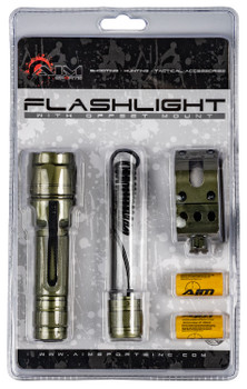 Aim Sports FHD180G Flashlight   180 Lumens OD Green Aircraft Aluminum