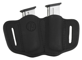 1791 GUNLEATHER MAG21SBLA MAG2.1  Double Mag for Single Stack Leather Black