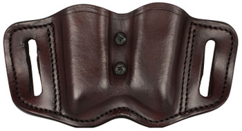 1791 GUNLEATHER MAGF22SBRA MAGF  Double Mag for Polymer Single & Double Stack Leather Signature Brown
