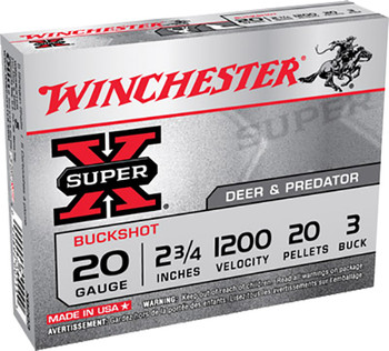 WIN Superx 20Ga 2.75 #3Black 20Pl 5/Box XB203