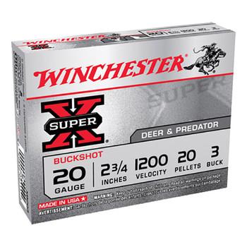WIN Superx 20Ga 2.75 #3Black 20Pl 5/Box XB203