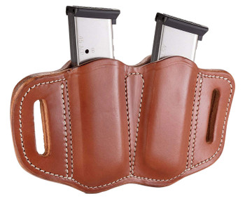 1791 GUNLEATHER MAG21CBRA MAG2.1  Double Mag for Single Stack Leather Classic Brown