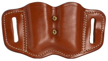 1791 GUNLEATHER MAGF22CBRA MAGF  Double Mag for Polymer Single & Double Stack Leather Classic Brown
