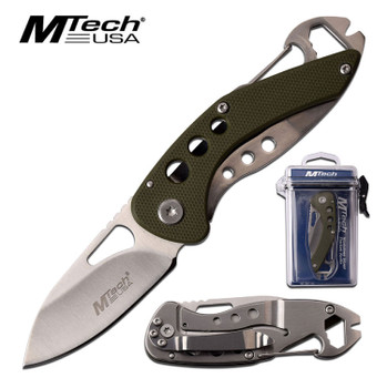 MTech USA Folder 2.1 in Blade Green G-10 Handle