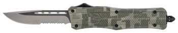 "COBRA TEC KNIVES LLC MADCCTK1MDS CTK-1 Medium  3"" 440C Stainless Steel Drop Point Serrated Army DigiCamo Zinc-Aluminum Alloy"
