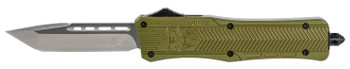 "COBRA TEC KNIVES LLC MODCTK1MTNS CTK-1 Medium  3"" 440C Stainless Steel Tanto Black OD Green Zinc-Aluminum Alloy"