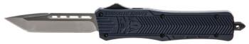 "COBRA TEC KNIVES LLC MNYCTK1MTNS CTK-1 Medium  3"" 440C Stainless Steel Tanto Black NYPD Blue Zinc-Aluminum Alloy"