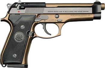 "BERETTA BERETTA 92FS 9MM 4.9"" FS 15-SHOT BLUED/BRONZE ITALY"