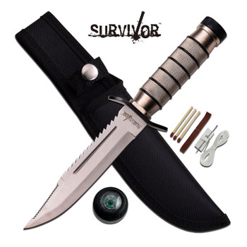 Survivor Fixed  5.0 Blade Aluminum Handle