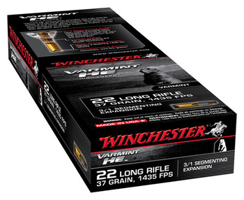 WIN Varmint HE 22Lr 37 Grain Weight FHP 50/Box