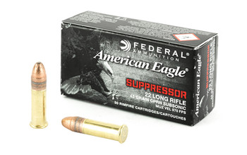 Federal AE Suppressor 22Lr 45 Grain Weight FMJ 50/