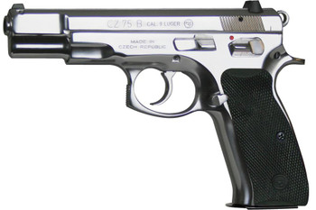 "CZ 75b 9mm 4.6"" Polished Sts 10rd"