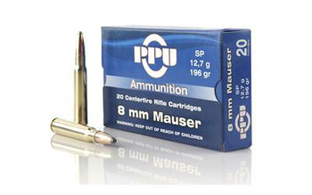 PPU 8MM Mauser SP 196 Grain Weight 20/Box