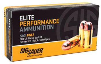 Sig Sauer Ammo 9mm 115 Grain Weight Fmj 50/1000