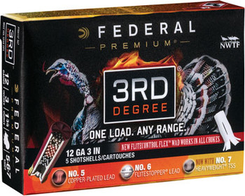 "Federal 3RD Degree 12Ga 3"" 5/6/7 5/Box PTDX157 567"