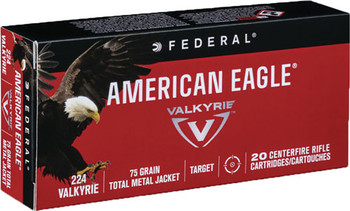 Federal AM Eagle 224Vlk 75 Grain Weight TMJ 20/Box