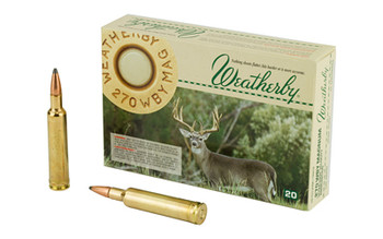 WBY Ammo 270Wby 130 Grain Weight Spire 20/Box